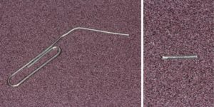 A paper clip can be used as rebar for a temporary bridge.