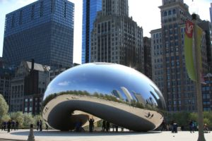 The Bean is a classic sight of Chicago.